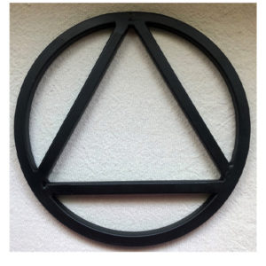 Large Circle and Triangle Symbol
