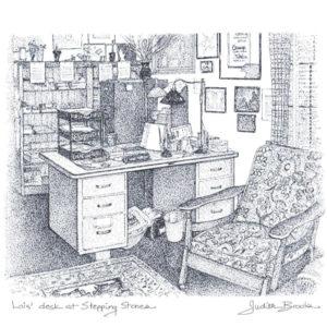 Lois Desk Print
