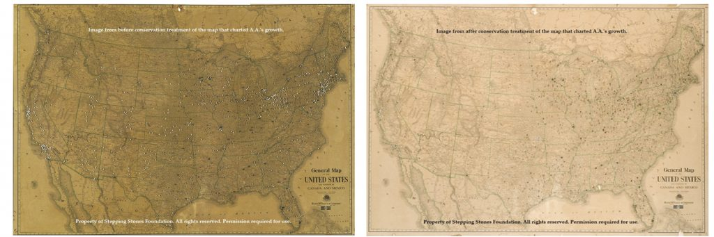 Maps from the Objects Collection of Bill and Lois Wilson